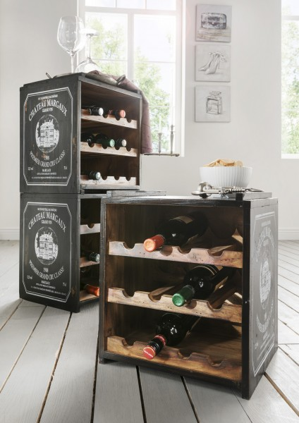 Weinregal mit Weingut-Print, für 12 Flaschen