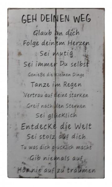 Deko-Holzschild mit Spruch BOARD No. 6, handgefertigt