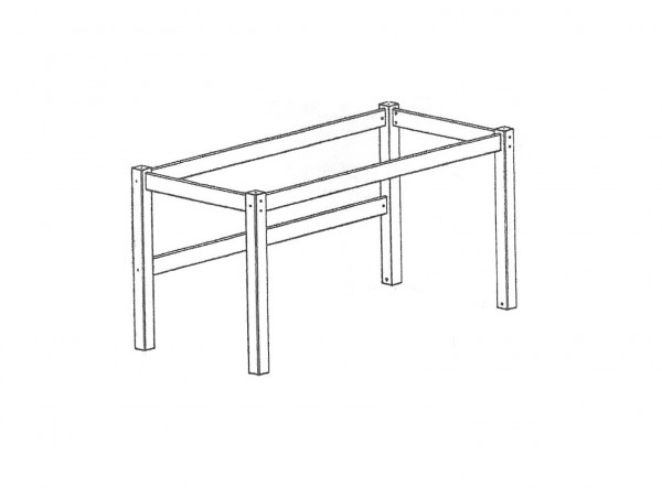 Aufbau Beduinenzelt für Einzelbett TOBYKIDS (Holzteile)