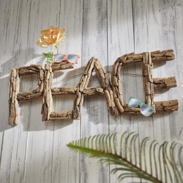 Unikat-Wanddekoration PEACE, handgefertigt, zum Hängen