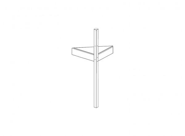 Plattform mit Pfosten (zur Montage von Rutsche und Leiter) TOBYKIDS