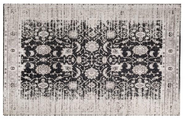 Vintage-Teppich YOSH, 200 x 300 cm, grau/schwarz