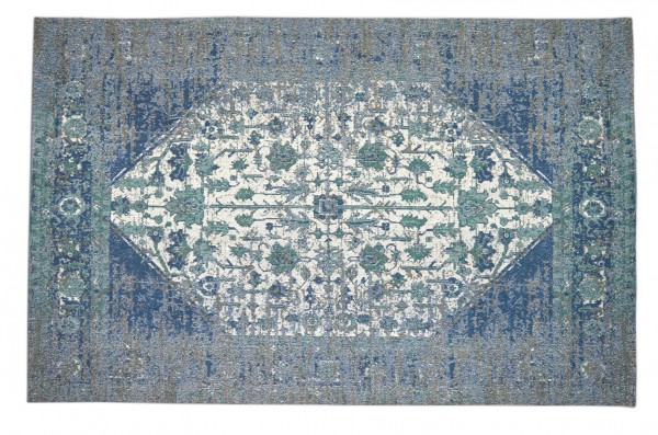 Vintage-Teppich GLAM, blau / grün