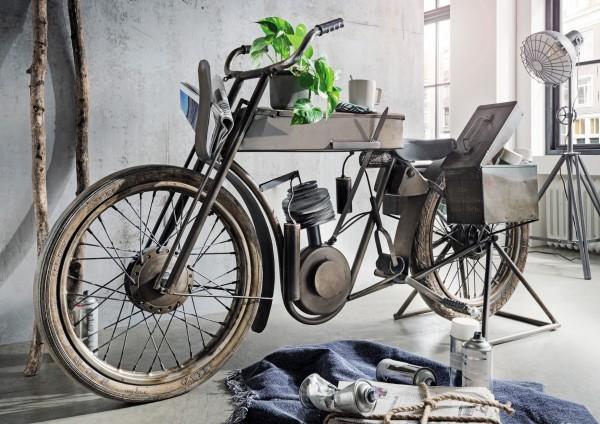 Moto-Bike Bar mit Seitenboxen