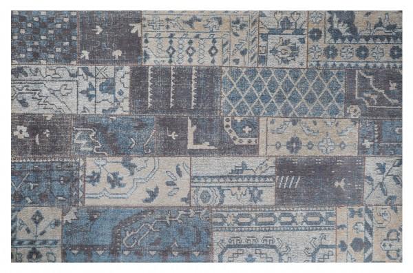 Vintage-Teppich TURKEY, 170 x 240 cm, blau/grau