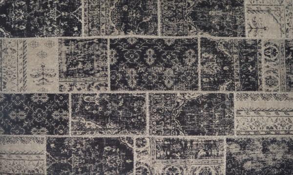 Vintage-Teppich EMMA, 200 x 300 cm, schwarz
