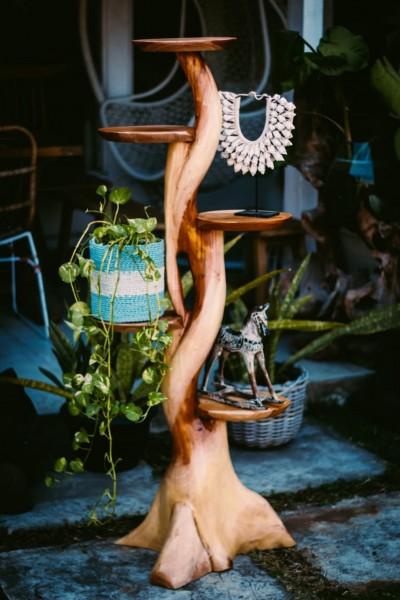 Unikat-Deko-Kaktus mit 4 Ablagen, handgefertigt