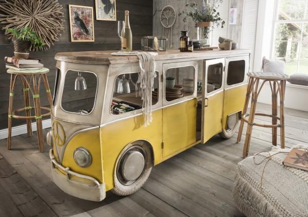 Unikat-Fahrzeug-Bar / -Ladentheke BULLI