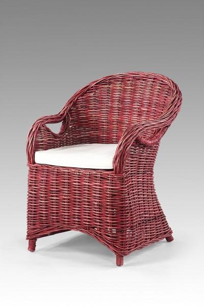 Rattan-Sessel / Stuhl inkl. Sitzkissen CAPRI