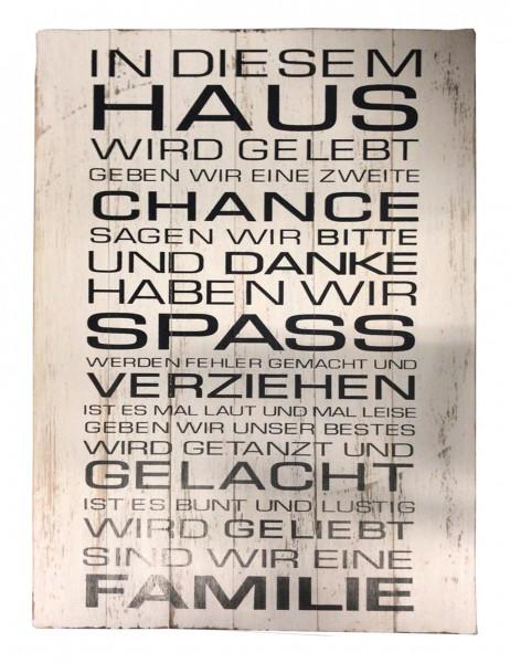 Deko-Holzschild mit Spruch BOARD No. 4, handgefertigt