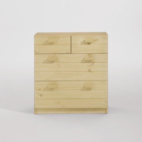 Kommode mit 2 kleinen und 2 großen Schubladen