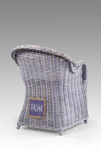 Rattan-Sessel / Stuhl inkl. Sitzkissen PALMA