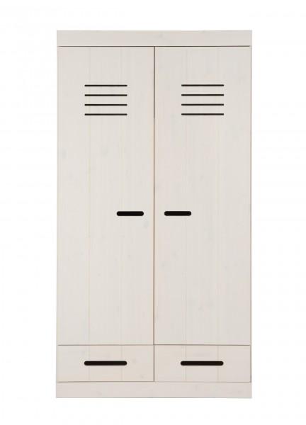 Kleiderschrank 2-türig mit 2 Schubladen