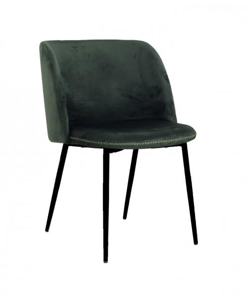 Design-Polsterstuhl SOAZIG, dunkelgrün