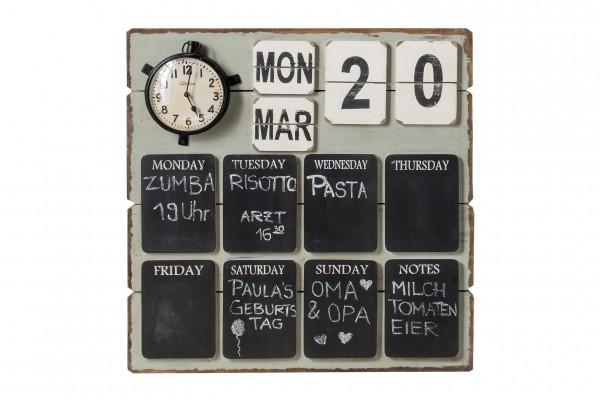 Memo-Board MEMO, mit Uhr, Kalender und Tafeln für Notizen