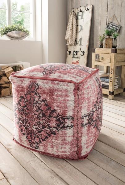 Vintage-Sitzhocker ANTIQUITY, pink