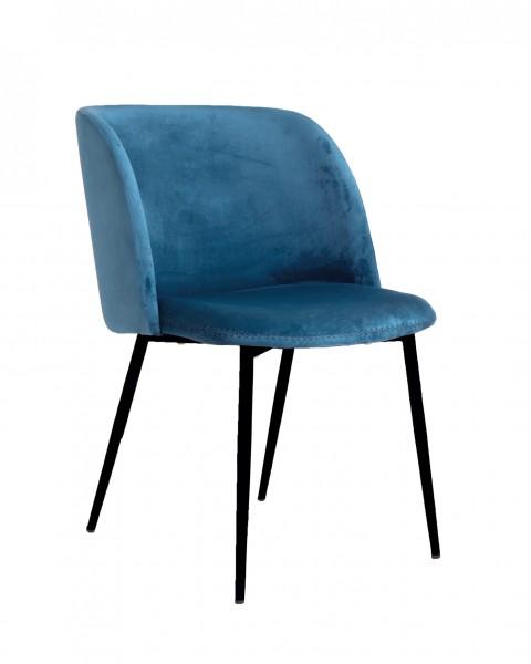 Design-Polsterstuhl SOAZIG, aqua-blau