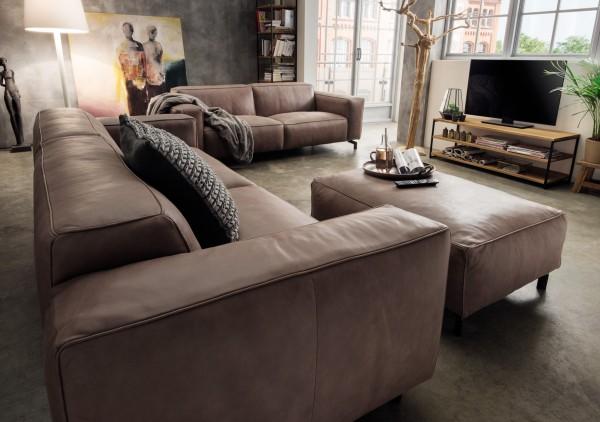 3-sitzer Manufaktur-Leder-Sofa PORTLAND