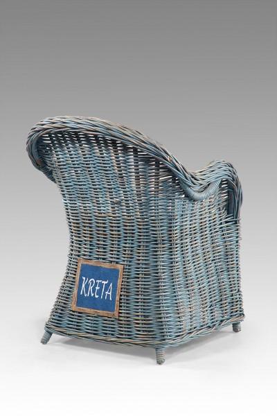 Rattan-Sessel / Stuhl inkl. Sitzkissen KRETA