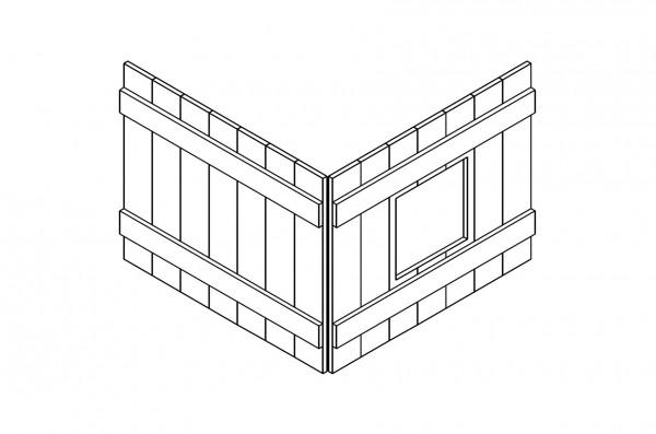 Holz-Dekoelement für Mittelhochbetten INFANSKIDS