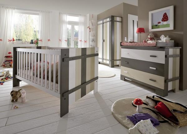 Kinderbett / Babybett MERLIN, im Vordergrund links