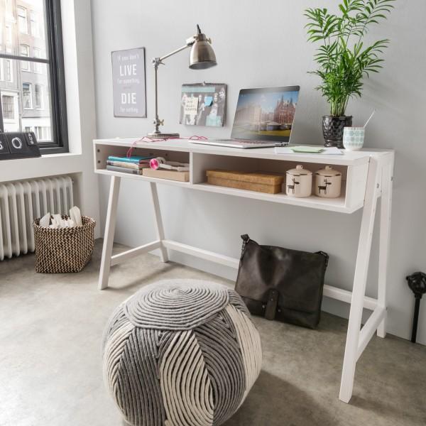 Schreibtisch, höhenverstellbar, Abbildung in weiß