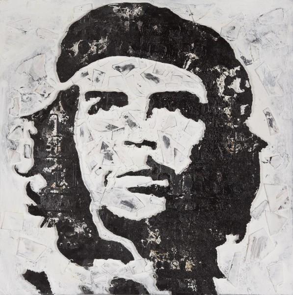 Wandbild CHE GUEVARA, handgemalt, in Acrylfarben