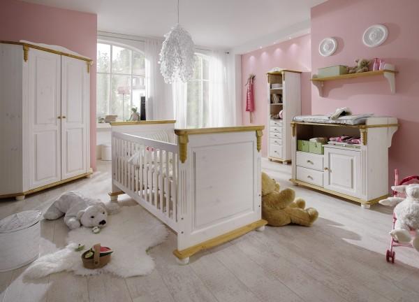 Kinderbett / Babybett ROMANTIK, im Vordergrund
