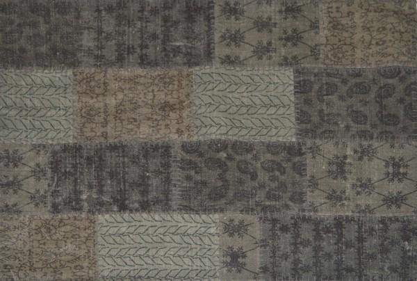 Vintage-Teppich STONE PATCH, grau
