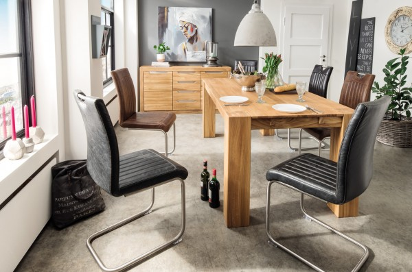 Esstisch mit durchgehenden Tischbeinen HASSELT