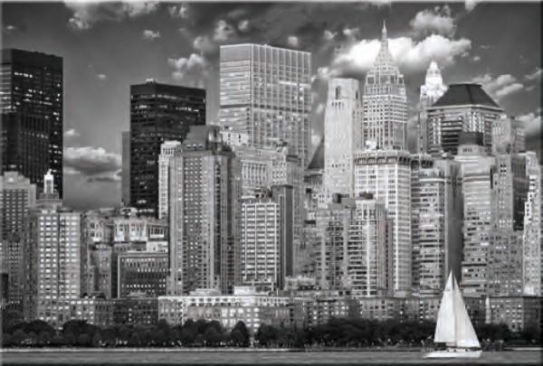 Glasbild NEW YORK B/W