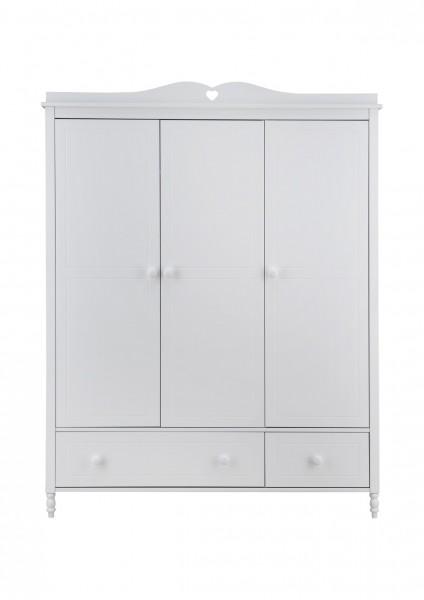 Kleiderschrank 3-türig mit 2 Schubladen EMMA