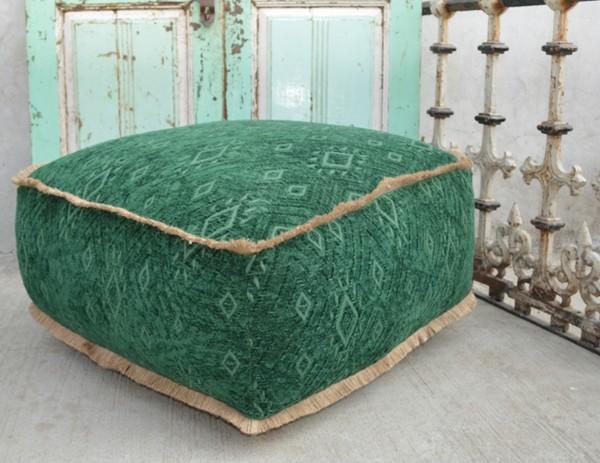 Sitzhocker / Pouf JASON, grün